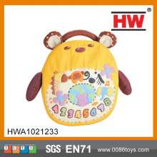 funny Bear Bag with music cartoon  baby backpack
