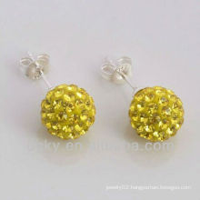 2012 Hot Sales Newest gold crystal ball stud earring