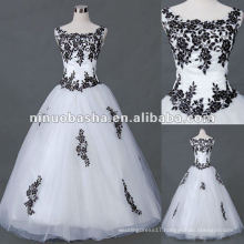 Applique Tulle with Short Sleeve Wedding Dress
