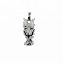pendant-182  xupingPunk style Stainless Steel jewelry black gun color wolf head pendant