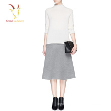 Lady Woven Cashmere Skirt