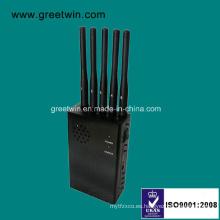 Cinco Antenas Handheld Jammer Jammer señal en la reunión secreta (GW-JN5)