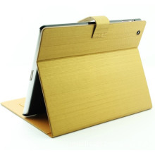 Fashion Gold Leather Case with Stand for iPad 2&3&4