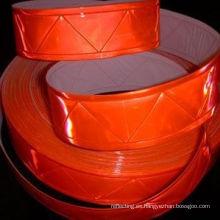 W patrón de naranja cinta reflectante para ropa y prendas de Vest