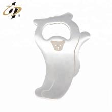 El laser personalizado promocional del acero inoxidable graba el abrebotellas de plata