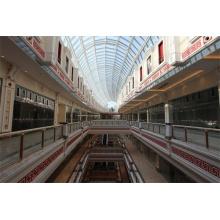 China Large Span Centro comercial de acero marco de vidrio estructural techo de la bóveda tragaluz