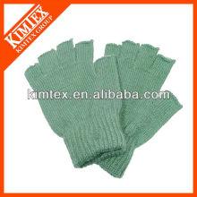 2015 Unisex al por mayor acrílico personalizado hecho punto medio dedo guantes