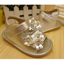 Sliver Small Flowers Baby Sandals