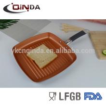 Bandeja de cerâmica de cobre de 9,5 / 11 polegadas com fundo de listra