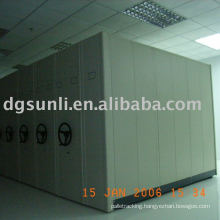 Mobile shelf/cabinet system for library/archive/compactor