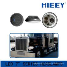 Phare avant IP67 pour grand camion DOT Approbation phare avant 12 / 24V led rond projecteur de 7 pouces pour camions