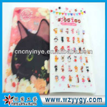 New design delicate printing plastic sticker with cover, fashion present stickers for kids