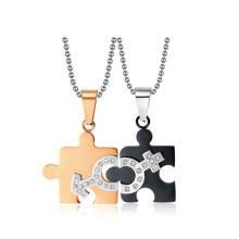 Top vente mâle et femelle symbole pendentif, pendentif symbole de l'amour, amant pendentif bijoux