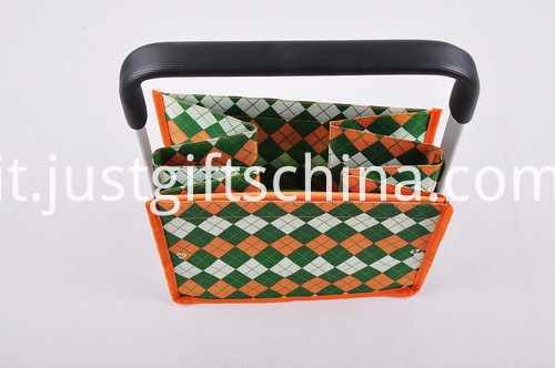 Custom Tweed Folding Shopping Basket - Single Handle (5)