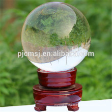 transparent polished crystal glass ball,clear K9 crystal ball