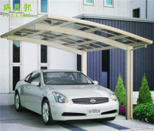 metal cantilever carport for car and motorcycle