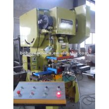 Pressing line for sheet metal blanking and forming
