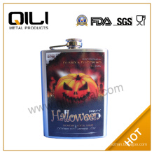 FDA 8oz Promotion hip flask with Halloween Pumpkin Creator