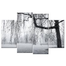 Impressão preto e branco da arte da lona da decoração da impressão de canvas envolvidas