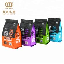 Usine en gros a adapté le sac d'emballage de grain de café moulu rôti de catégorie comestible de valve avec le logo de café