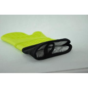 Slip-resistance Silicone Cover Cotton Liner Cooking Glove