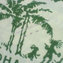 Velours de Polyester gaufré Suede canapé tissu (G69-27)
