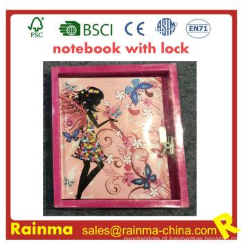 Caderno de crianças com bloqueio para presente de papelaria