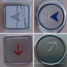 Rund/quadratisch Push Fahrstuhlknopf, Aufzug Edelstahl Taster