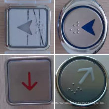 Bouton rond/carré ascenseur, ascenseur en acier inoxydable bouton-poussoir