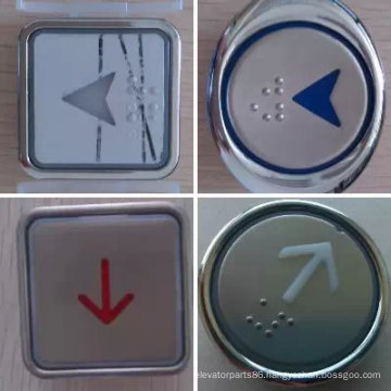 Elevator Round/Square Push Button, Elevator Stainless Steel Push Button