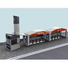 TCP-3 auto refugio de tránsito de bicicletas con quiosco