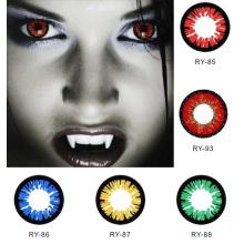 Lentilles de cosplay Chat coloré Contacts lentilles couleur Halloween violet Gragon vert Alt Sharingan avec PP emballage
