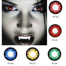 Cosplay Contact Lenses Cat Coloured Contacts Lens Colored Color Halloween Purple Alt Green Gragon Sharingan with PP Packaging