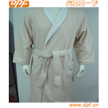 Double Layer with Terry Inside Hotel for Women Bathrobe