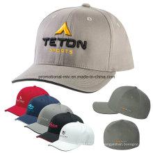 Casquettes ajustées adaptées aux besoins du client de polyester / coton
