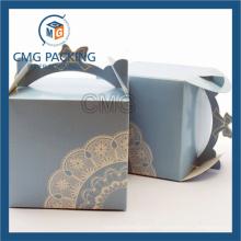 Boîte à gâteau personnalisée en usine avec poignée en papier (boîte à gâteau CMG-013)