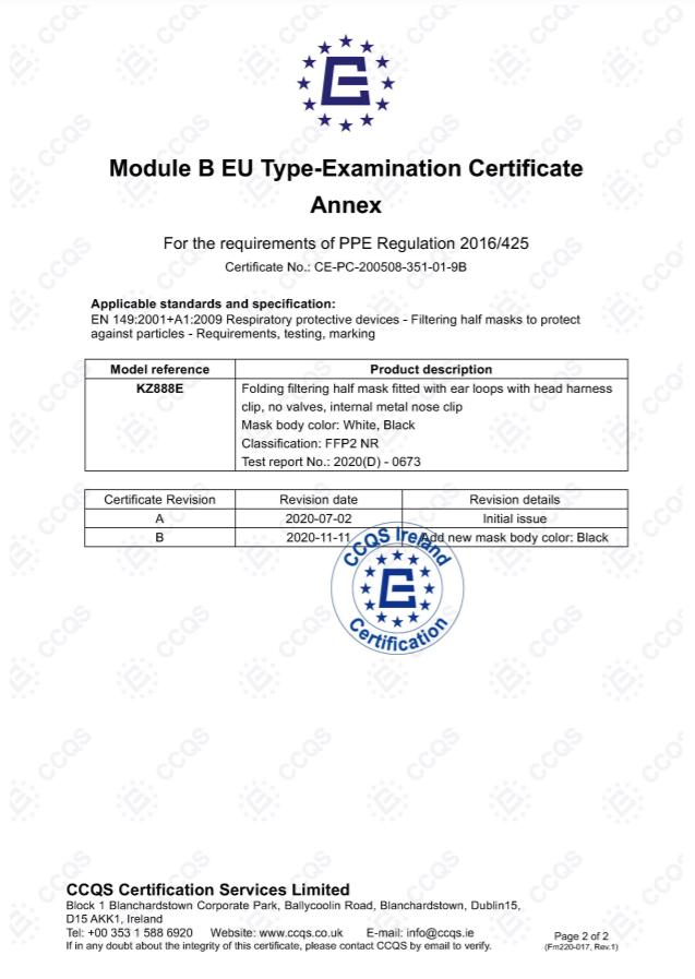 CE Certication MODULE b