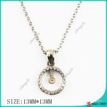 Crystals Circle Metal Necklace (PN)