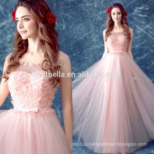 Фабрика OEM Дубай дизайнеры розовый Цветочный выпускного вечера Вечерние платья Вечерние Новогоднее платье милая девушка платье