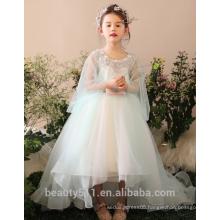 Lace Flower Kids Princess Dresses Kids Dresses for Weddings Tailing girl wedding dress ED672