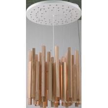 Lámpara colgante de techo de madera de goma + metal (MX80150-1-620)