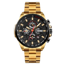 Skmei men stainless steel watch 3ATM waterproof charm watches automatic