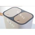 Hot Sales Double Lids Push Plastic Dustbin