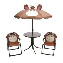 mesa y sillas de dibujos animados de playa niño al aire libre