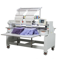 12 Needles 2 heads Computer Embroidery Machine for Cap, flat, T-shirt, sequin, beads, boring embroidery best price for sale