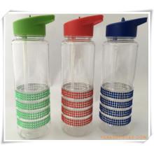 Bouteille d'eau de coupe de paille pour les cadeaux promotionnels (HA09036)