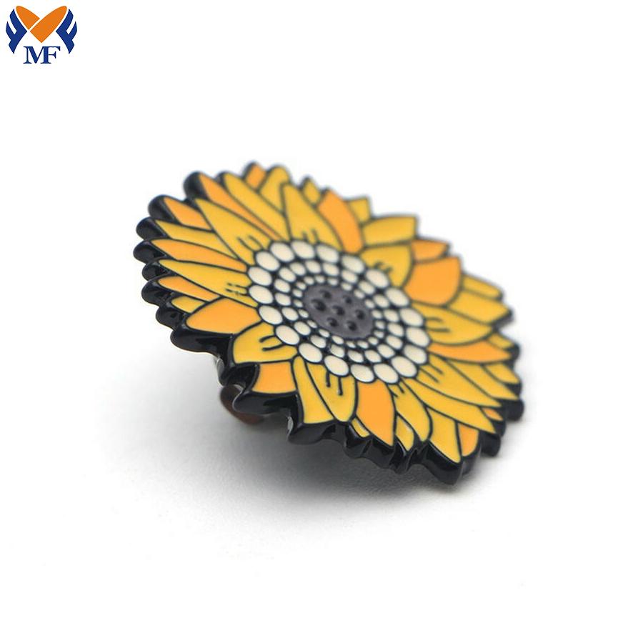 Metal Sunflower Pin