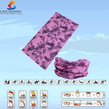 LSB-0040 Ningbo Lingshang Outdoor 100% Polyester nahtlose Nackenrohr multifunktionale Bandana