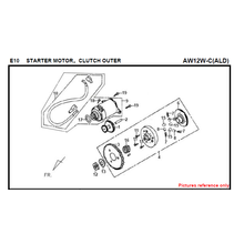 EMBREAGEM DO MOTOR DO E16 STARTER OUID FIDDLE 125 AW05W-C Para SYM Spare Part Top Quality