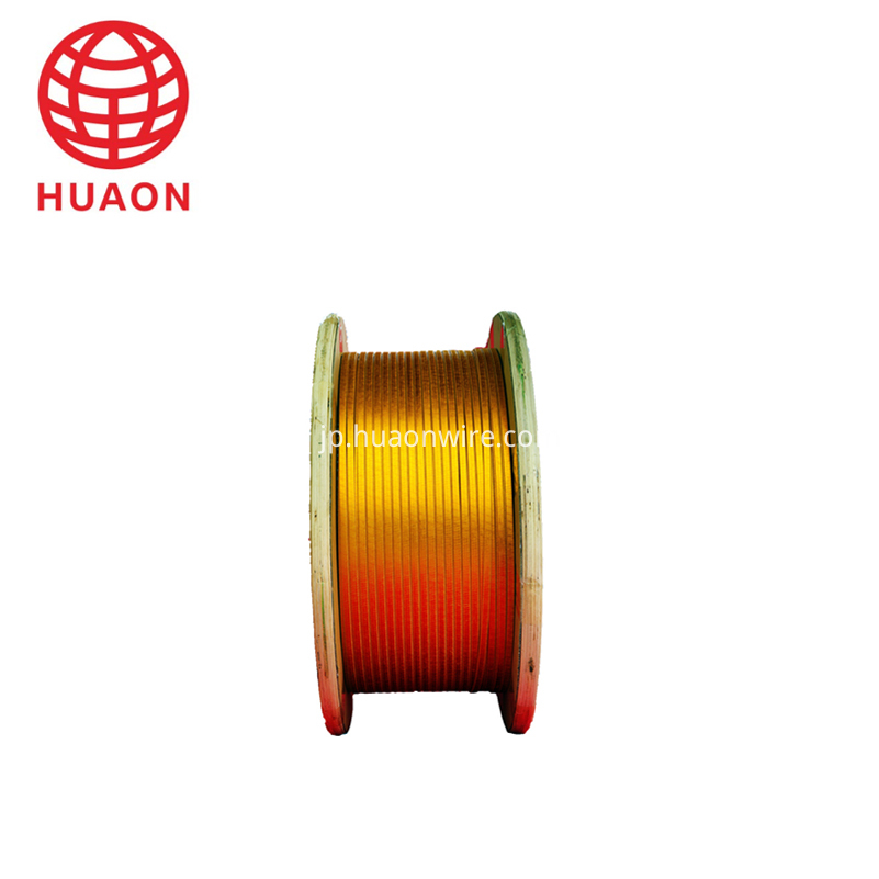 Film Overcoated With F46 Copper Flat Wire